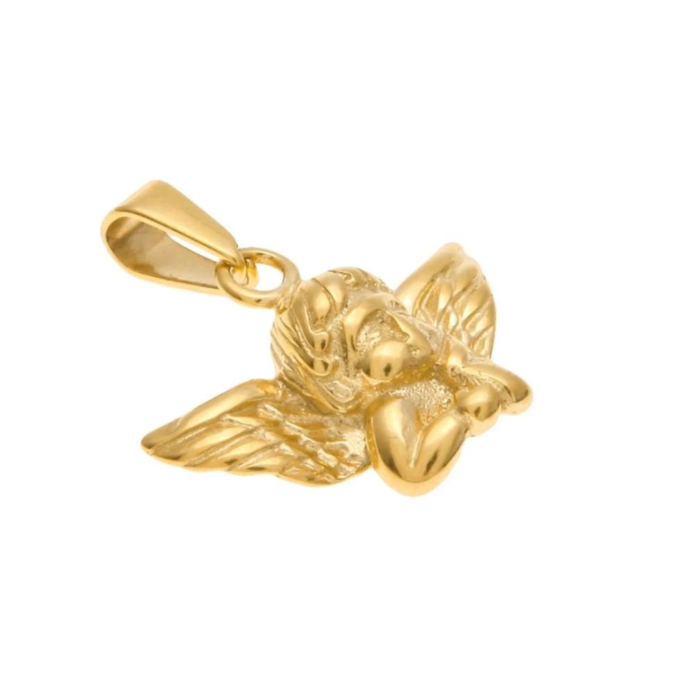Image of GOLD CHERUB NECKLACE