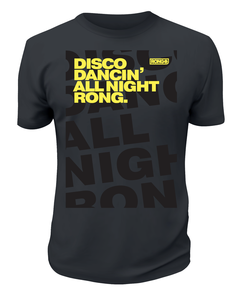 Image of Mens Disco Dancin' All Night Rong T-Shirt (Free Wristband + Neck Tie)