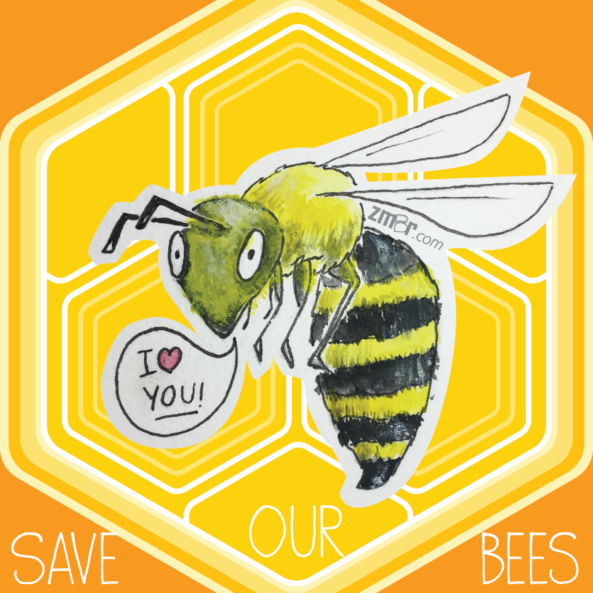 Image of Bee Sticker