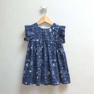 Image of Navy Ruffle Mini Dress