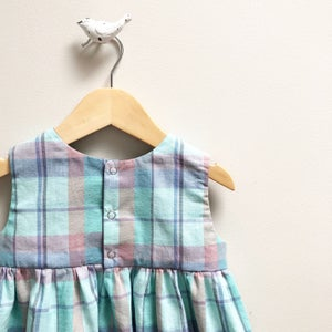 Image of Turquoise Plaid Mini Dress