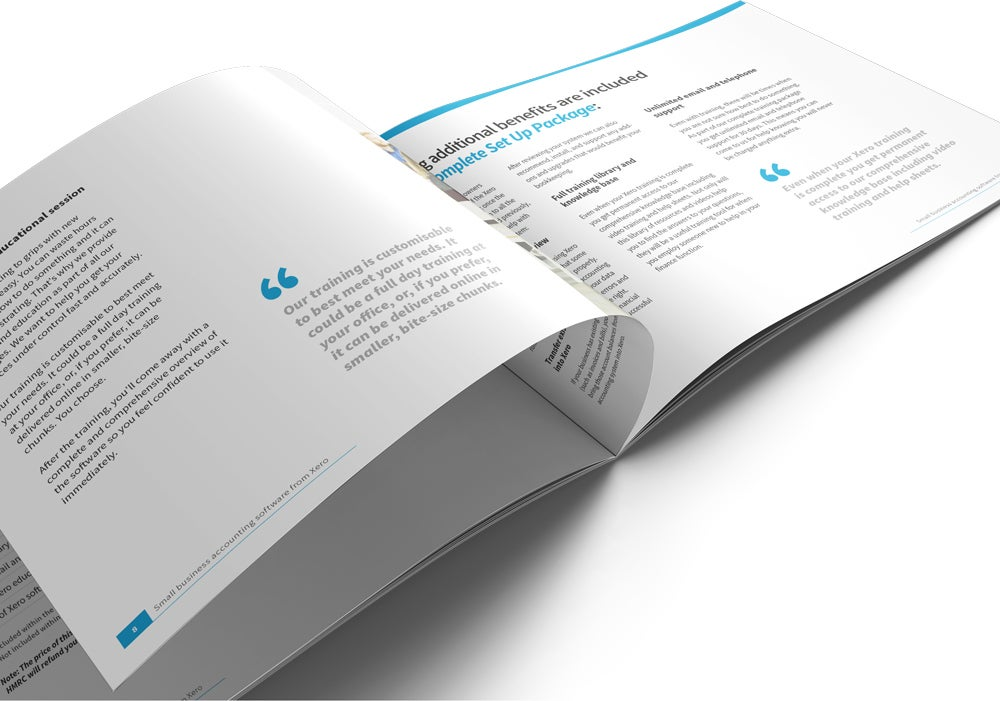 Image of Xero Set Up and Training Brochure Print