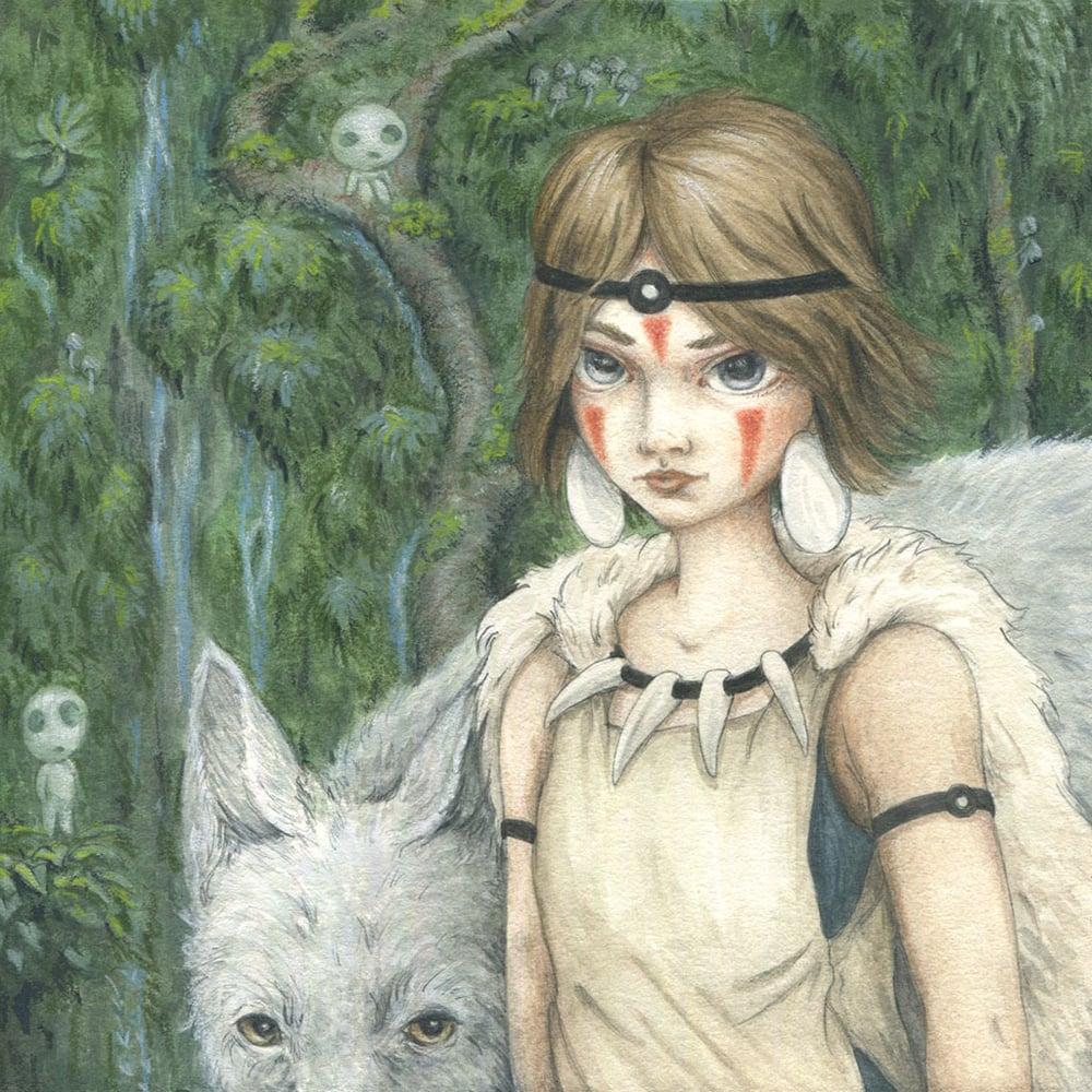 Image of San the Princess Mononoke 8x10 print
