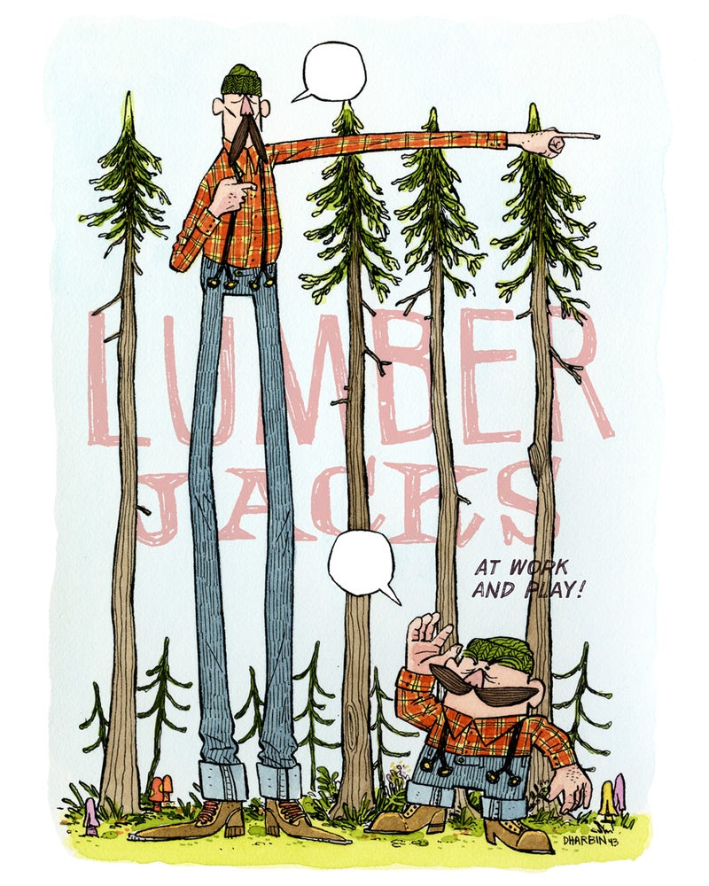 Image of LUMBERJACKS: At Work And Play!