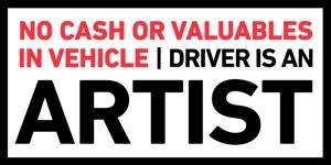 "Image of ""Driver is an Artist"" bumper sticker"
