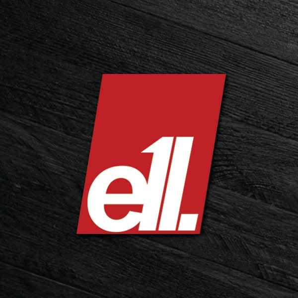 Image of E11 100mm block sticker