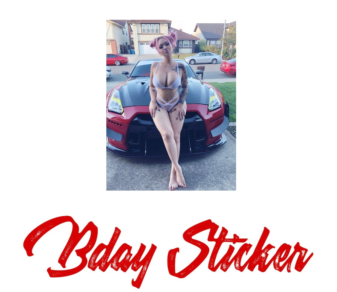 Image of BDAY BAE STICKER