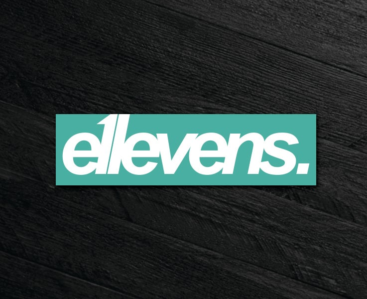 Image of E11evens - 200mm block E11evens sticker