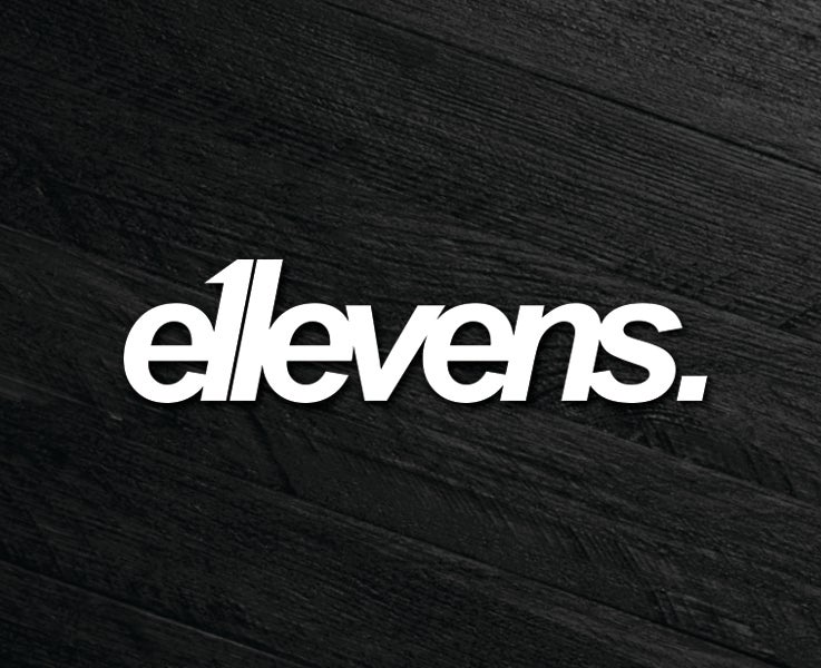 Image of E11evens - 200mm E11evens white text sticker