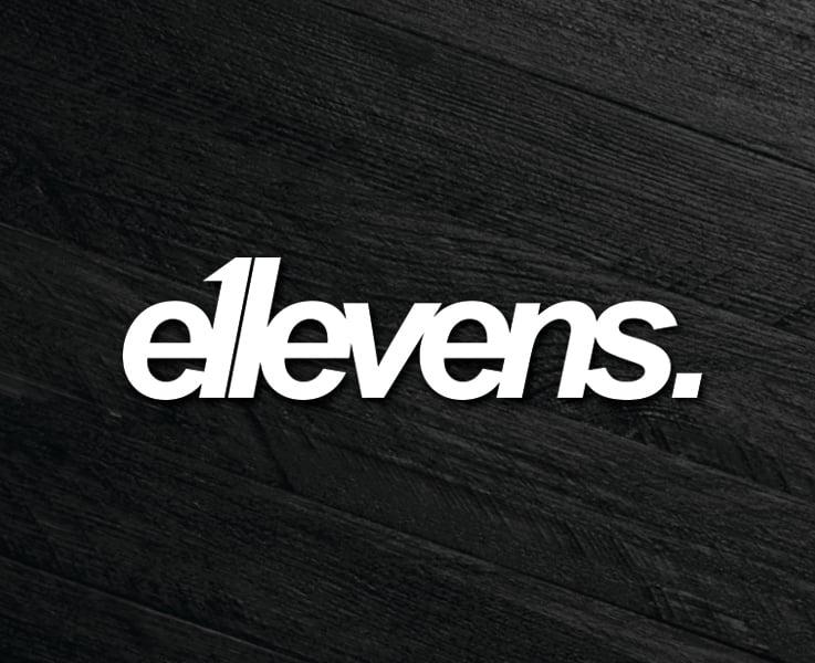 Image of E11evens - 200mm E11evens white text sticker