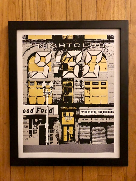 Image of Nightclub 9:30 Silk Screened Art Print - Silver & Gold Edition