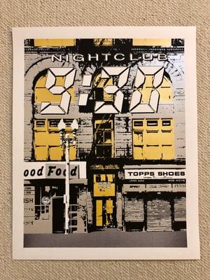 Image of Nightclub 9:30 Silk Screened Art Print - Silver & Gold Edition