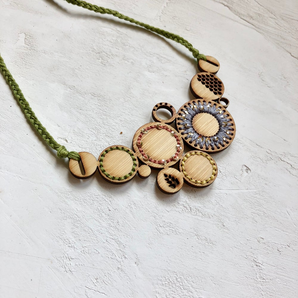 Image of Embroidered Bib Necklace