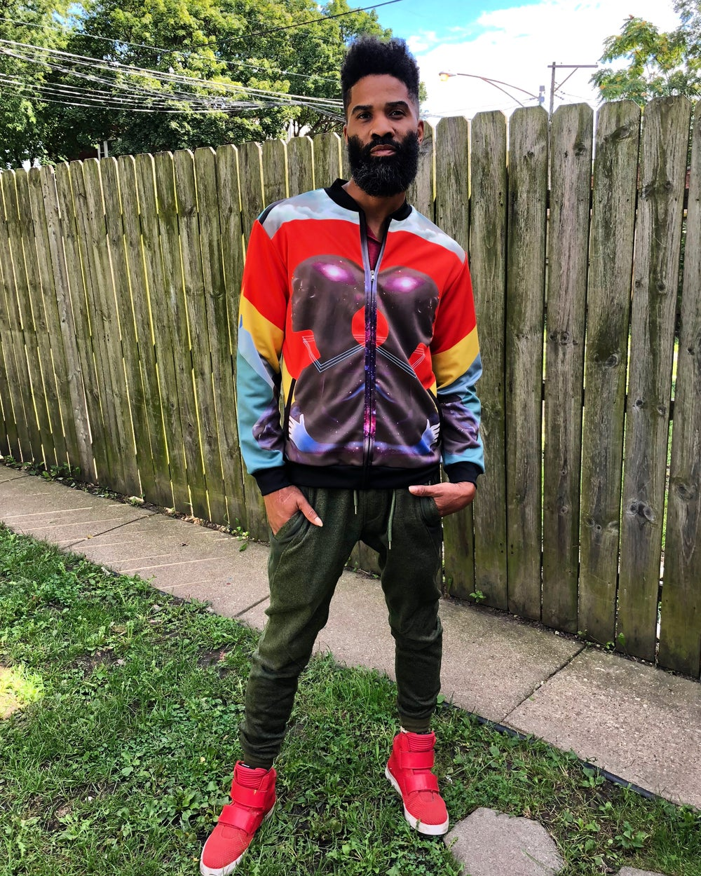 Image of Guard Your Vibes Bomber
