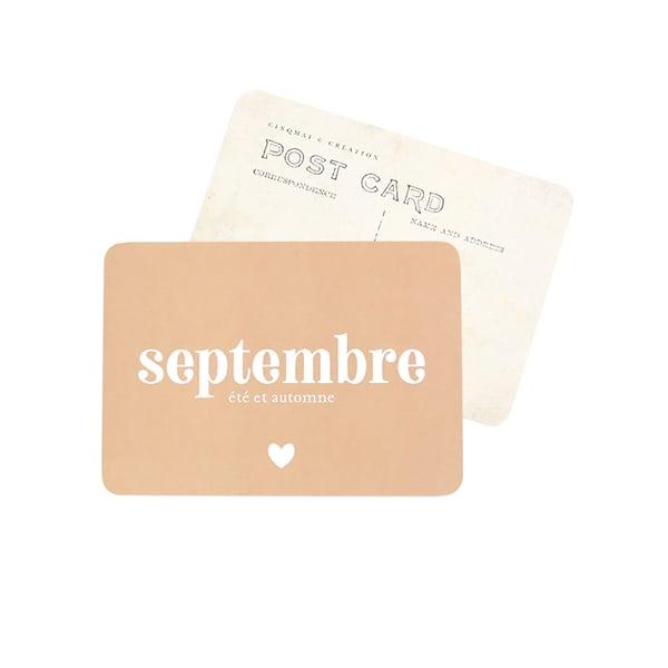 Image of Carte Postale SEPTEMBRE / ROSE D'AUTOMNE