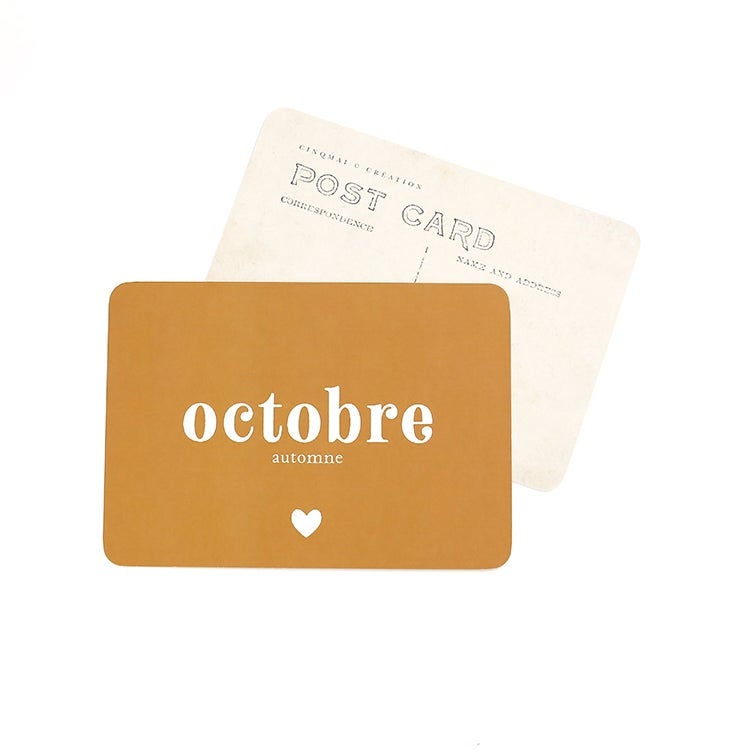 Image of Carte Postale OCTOBRE / OCRE