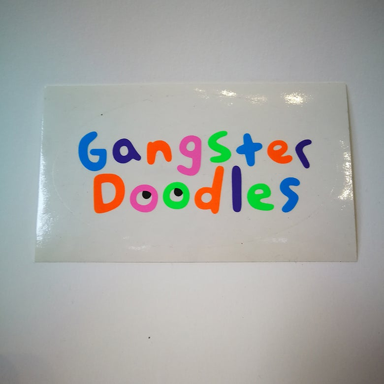 "Image of Sticker ""Gangster Doodles"" par Gangster Doodles"
