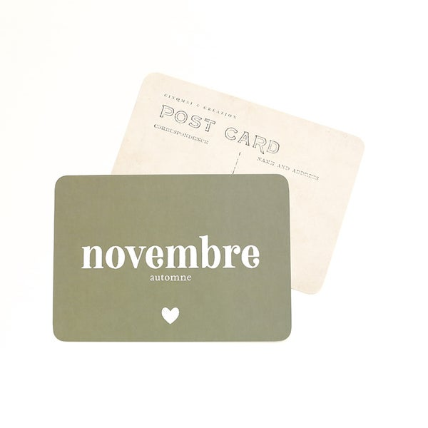 Image of Carte Postale NOVEMBRE / KAKI