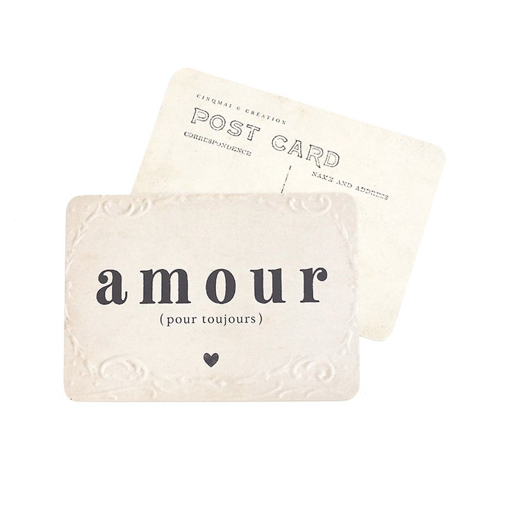 Image of Carte Postale AMOUR (POUR TOUJOURS)