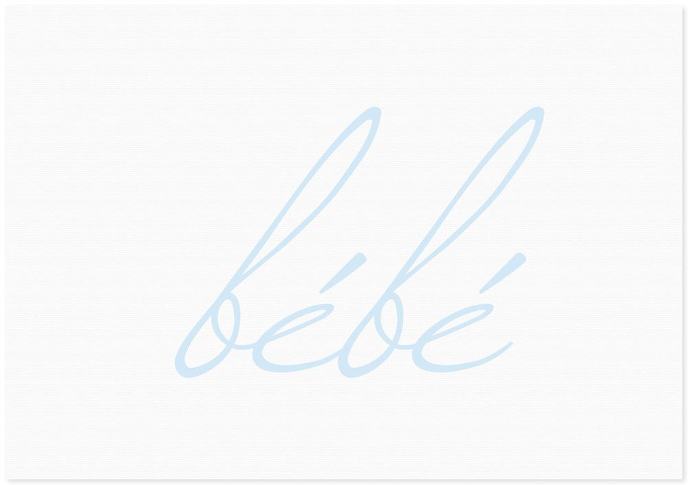 Image of bébé | blue