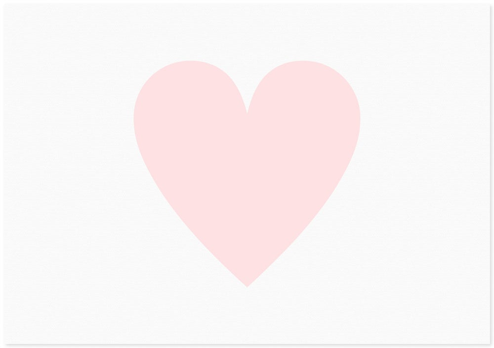 Image of love heart | large pink