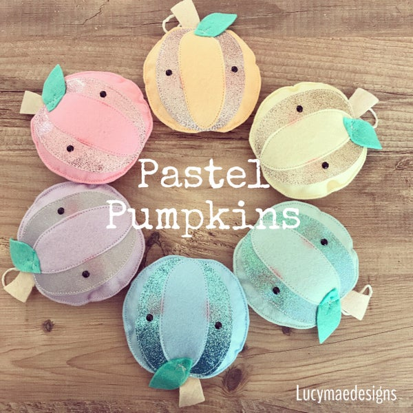 Image of Pastel pumpkin decorations