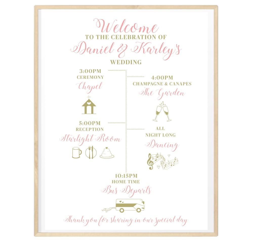 Image of Personalised Wedding Day Timeline
