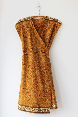 Image of SOLD Vibrant Batik Wrap Dress
