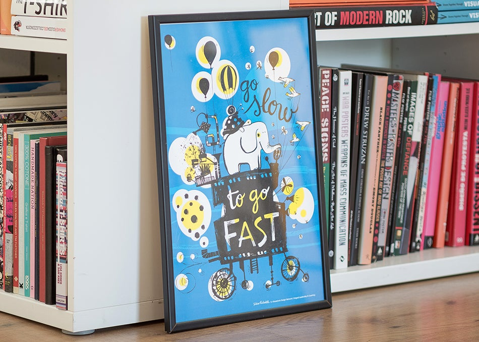 "Image of QUOTES POSTER | ""Go Slow To Go Fast"""