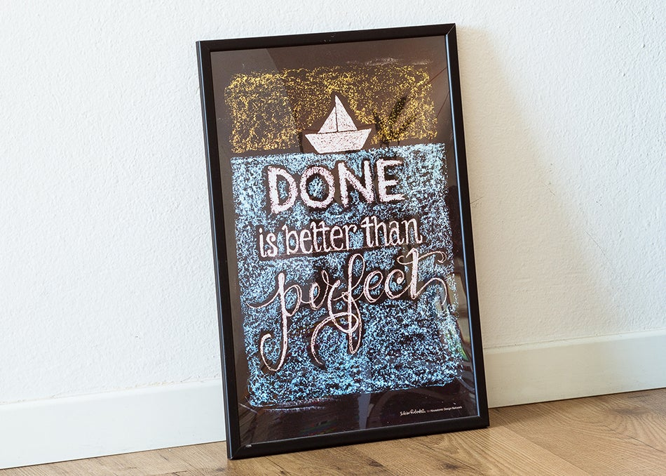 "Image of QUOTES POSTER | ""Done is Better than Perfect"""