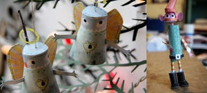 Image of Christmas cards - make your own robo-baubles