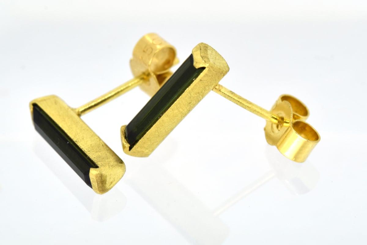 Tourmaline 18ct Gold Studs