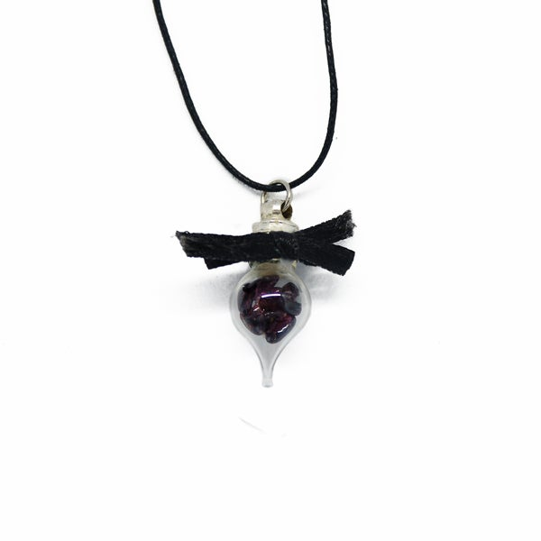 Image of Garnet vial pendant
