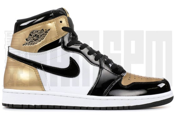 "Image of Nike AIR JORDAN 1 RETRO HIGH OG NRG ""GOLD TOE"""