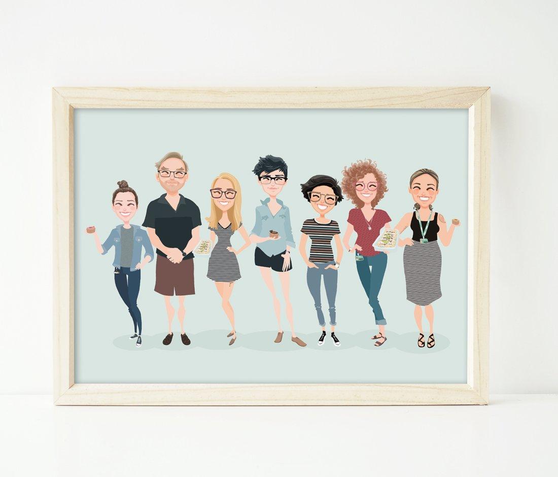 Image of 7 people custom portrait