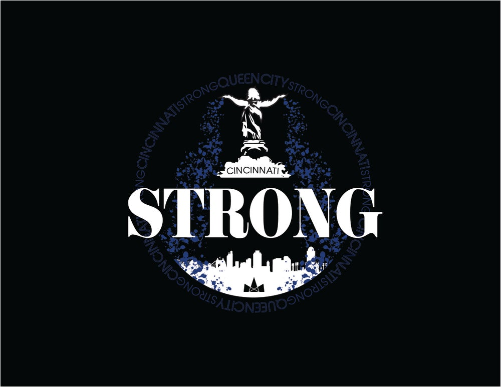 Image of Cincinnati Strong, Longsleeve Tee, Black
