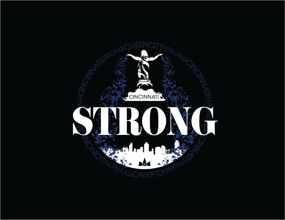 Image of Cincinnati Strong, Longsleeve Tee, Black