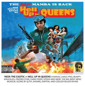 "Image of NEEK THE EXOTIC ""Hell Up In Queens"" (blue colored) Vinyl LP"