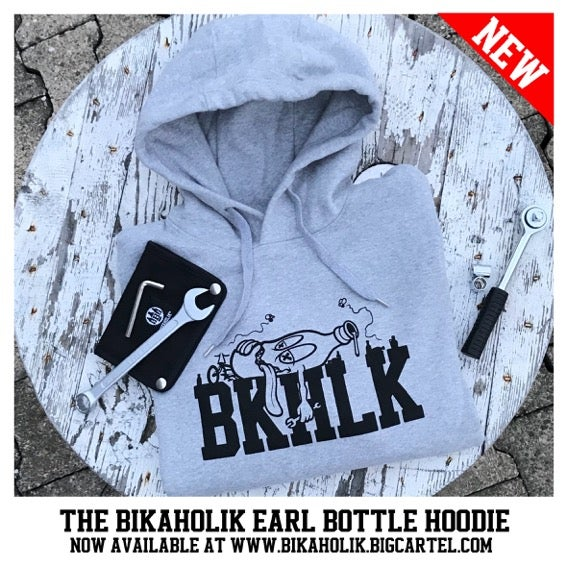 Image of Bikaholik Earl Bottle Hoodie - grey