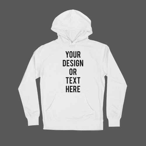 Image of Any Text on Light Hoodie