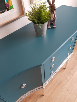 Image of Beautiful teal and silver sideboard