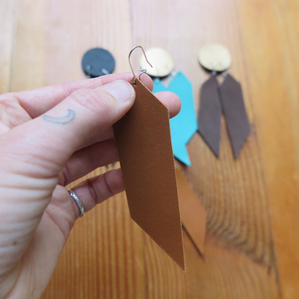 Image of leather earrings