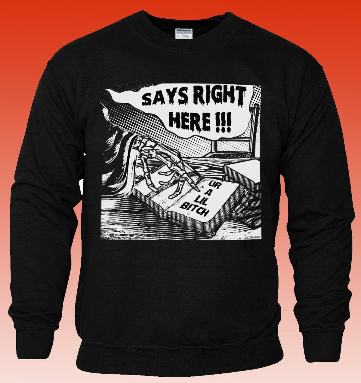 Image of Lil Bitch Crew Neck Sweatshirt