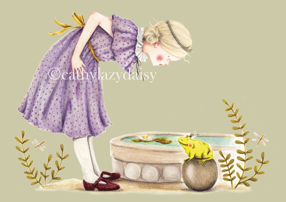 """Image of """"The Princess and the frog"""" large card"""