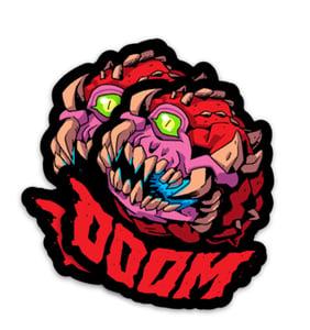 "Image of Doom - 3"" Magnet + Sticker"