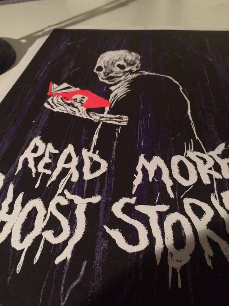 "Image of ""Read More Ghost Stories"" - Risograph Print"