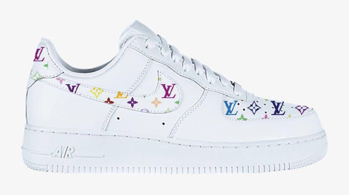 Multicolored Louis Vuitton Nike Air