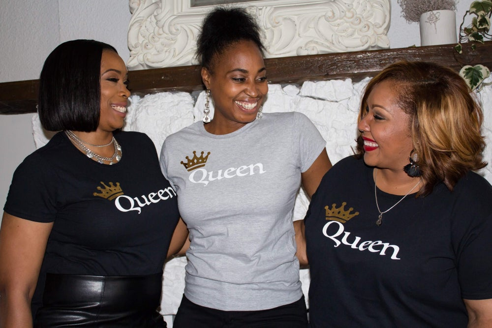 Image of Gold foil Crown Queen T-Shirt