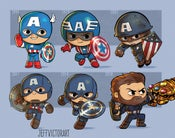 Image of Evolution of Captain America