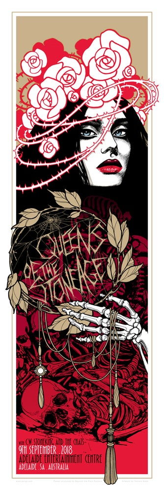 image of queens of the stone age teniele sadd gig poster